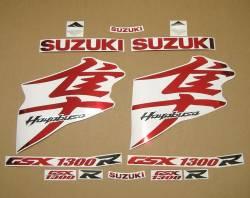 Suzuki Hayabusa k8 2008 chrome red graphics set