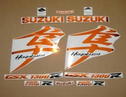 Suzuki Hayabusa 2008 2009 chrome orange decals kit