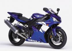 Yamaha R1 2002 RN09 5pw blue stickers