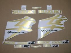 Suzuki Hayabusa 1340 brushed gold full logo emblems set