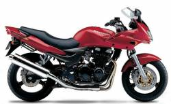 Kawasaki zr7s 2004 2003 red decals kit