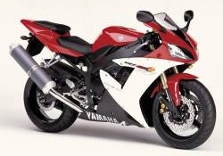 Yamaha R1 2002 RN09 5pw red stickers