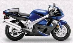 Suzuki srad 600 gsxr 2000 1999 blue black decals kit set
