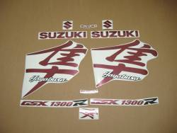 Suzuki Hayabusa gsx1300r burgundy red graphics kit