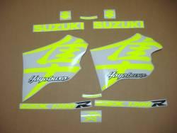 Suzuki Hayabusa 1999 neon signal yellow logo labels set