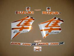 Suzuki Hayabusa chrome orange k3 k4 decals set