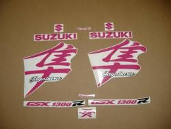 Suzuki Hayabusa 1300 2005 kanji hot pink graphics set