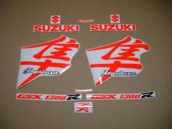 Suzuki Hayabusa k1 signal red kanji logo stickers set