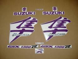 Suzuki busa gsx1300r 2002 purple decals kit
