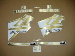 Suzuki busa k4 k5 k6 brushed gold emblems labels set