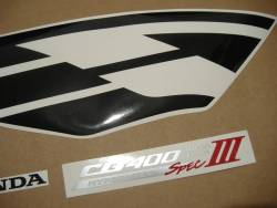 Honda CB 400 super four 2005 silver decals kit