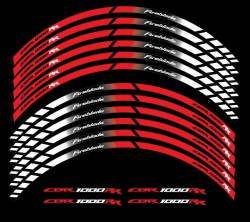 wheel stripes for honda fireblade sc59 red white 2008