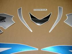 Honda CBR 600RR 2007 blue graphics set