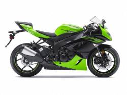 Kawasaki zx6r ninja 2011 green logo labels set