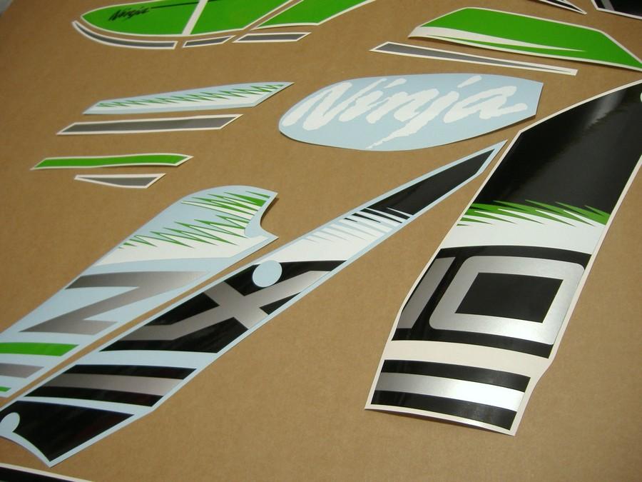 Kawasaki Zx10r Ninja 2016 Decals Set Kit Green Black