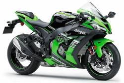 Kawasaki zx10r 2016 green complete sticker set