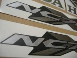 Honda nc700x 2012 black logo labels set