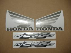 Honda nc700x 2012 black reproduction decals
