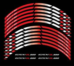 wheel stripes for Suzuki gsxr 600 in red (rim decals set)