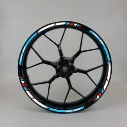 Suzuki GSX-R 1000 blue reflective rim stripes lines decals set kit