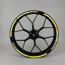 Suzuki gsxr 1000 yellow 2005 reflective rim wheel decals set