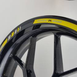 Suzuki gsx-r 1000 yellow k5 k7 reflective wheel stripes set