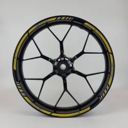 Suzuki gsxr 1000 yellow k5 k7 reflective wheel rim stickers