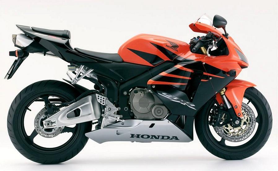 honda cbr 600rr 2006 decals set full kit orange black version moto. Black Bedroom Furniture Sets. Home Design Ideas