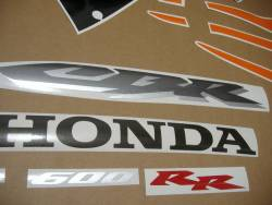 Honda cbr 600rr 2006 orange decals labels set