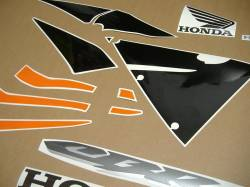 Honda cbr 600rr 2006 orange decals kit