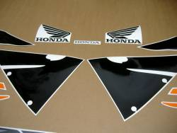 Honda cbr 600rr 2006 orange reproduction decals