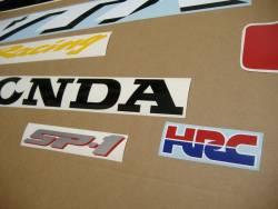 Honda vtr 1000 sp-1 rc51 sc45 2000 red adhesives set
