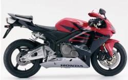 Honda cbr 600rr 2006 red stickers