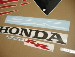 Honda cbr 600rr 2006 red reproduction stickers