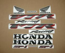 Honda VTR SC45 SP1 rc51 2001 silver graphics kit