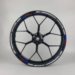 Honda hrc reflective white red blue wheel rim stripes decals set
