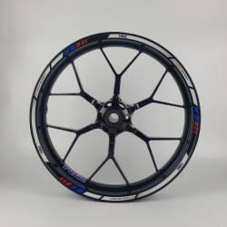 Honda hrc reflective white red blue wheel rim stripes decals set