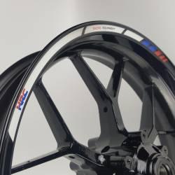Honda hrc reflective rim stripes decals stickers graphics set