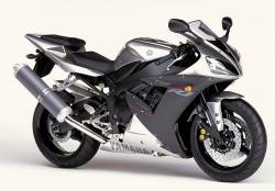 Yamaha yzf r1 2002 rn09 5pw silver decals kit