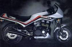 Honda CBX750G CBX750P CBX750E 1985 grey decals stickers