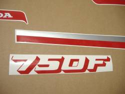 Honda cbx 750f rc17 1986 black stickers kit
