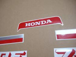 Honda cbx 750 rc17 1986 black decals set
