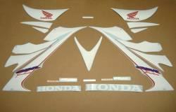 Honda 1000rr 2006 sc57 custom white decals set