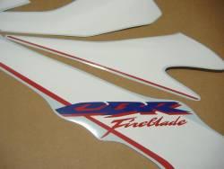 Honda cbr 1000rr 2007 sc57 custom white decals kit
