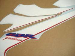 Honda fireblade 2007 sc57 white stickers kit