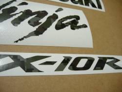 Kawasaki Ninja ZX10R pixelated camouflage decals set