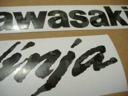 Kawasaki Ninja ZX-10R army military green stickers set