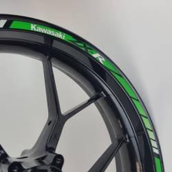 Kawasaki ZX10R reflective green wheel lines set