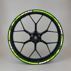 Kawasaki ZXR reflective green wheel stripes kit