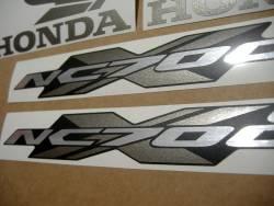 Honda NC700X 2013 silver decals kit